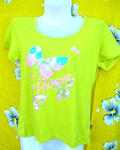 Custom wholesale clothing factory manufactures Lime green womens t